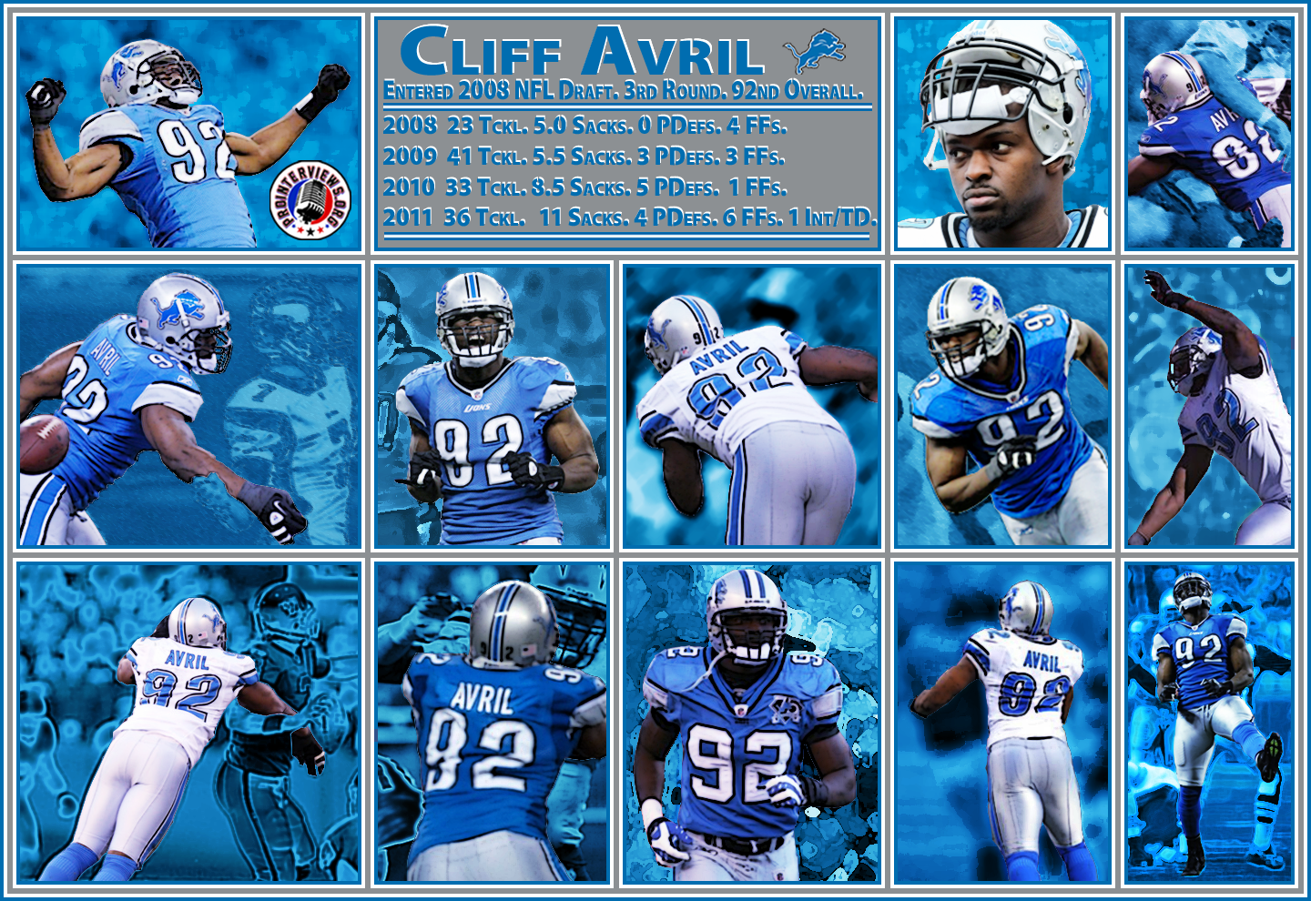 Lions DE and Sack Machine Cliff Avril Interview