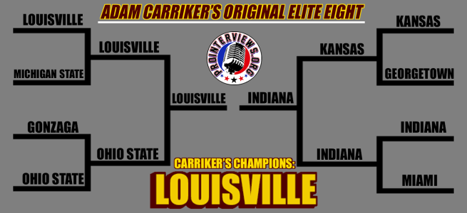 Adam Carriker's Elite Eight